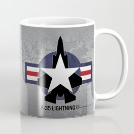 F35 Fighter Jet Airplane - F-35 Lightning II Coffee Mug