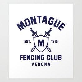 Montague Fencing Club - Romeo & Juliet Art Print