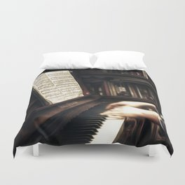 Music. The piano lesson. Duvet Cover