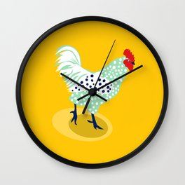 Yellow Chicken Wall Clock