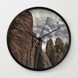 Rugged Formations at Arches Wall Clock