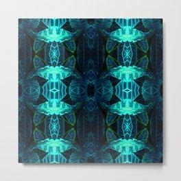 Psychedelic Kaleidoscope Leaf Pattern Metal Print
