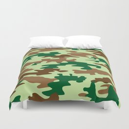 Camouflage Print Pattern - Greens & Browns Duvet Cover