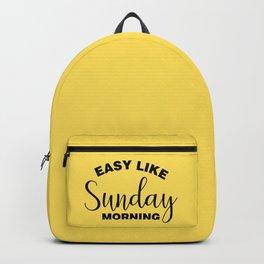 Easy Like Sunday Morning Backpack