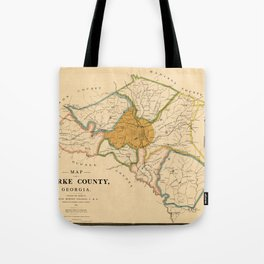 Map Of Athens Georgia 1893 Tote Bag