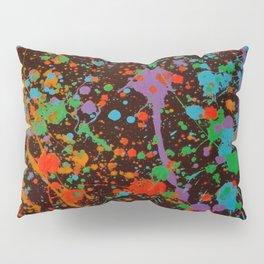 Bright Paint Splat 2 Pillow Sham