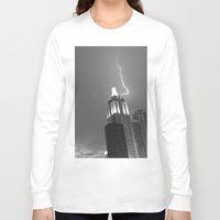 lightning Long Sleeve T-shirts featuring Lightning by Melynda Nichole