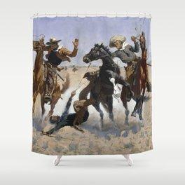 Frederic Remington - Aiding a Comrade Shower Curtain