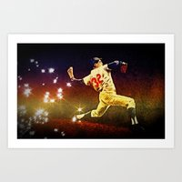 dodgers Art Prints featuring Speed of light by 6-4-3