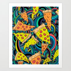 Pizza Meditation Art Print