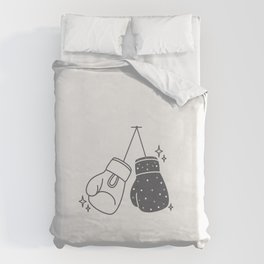 Boxing gloves night and day Duvet Cover