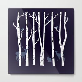 Bosque animado Metal Print