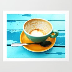 Latte coffee cup dregs Art Print