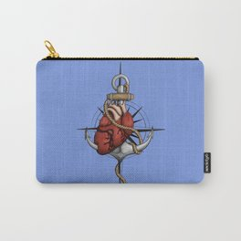 Love and Sea (anchor with heart and compass) Carry-All Pouch