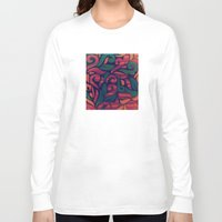 vintage floral Long Sleeve T-shirts featuring VINTAGE FLORAL by Julia Tomova