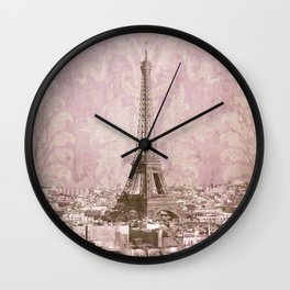 romantic Paris 2 Wall Clock