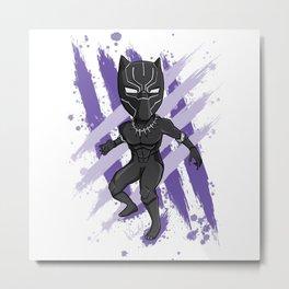 Black Panther (Splatter) Metal Print