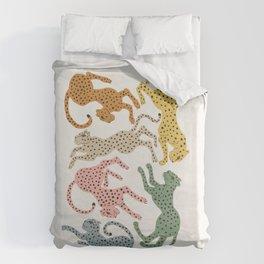 Rainbow Cheetah Bettbezug