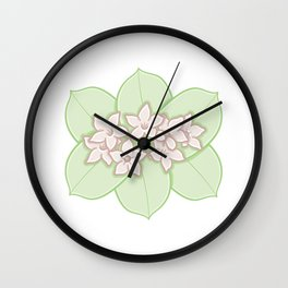 Madagascar Jasmine Illustration Wall Clock