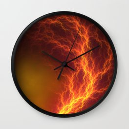 Fire and Lightning Wall Clock