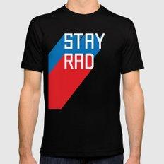 Stay Rad II Black Mens Fitted Tee LARGE