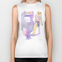 90s Biker Tanks featuring 90s Sailormoon by Collectif PinUp!