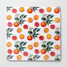 Orange blossom - Grapefruit blossom Grove Art Print Fruit Decor No. 1 Metal Print