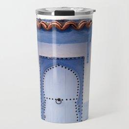 Doorways - Morocco - Chefchaouen The Blue City Travel Mug