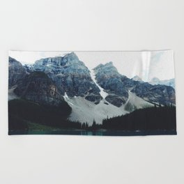 Moody Moraine lake Beach Towel