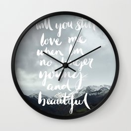 Young and Beautiful - Asturias, Spain Wall Clock