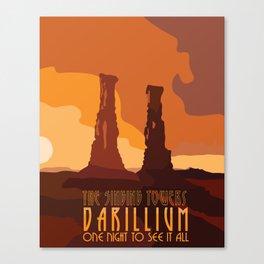 Doctor Who Singing Towers of Darillium Canvas Print