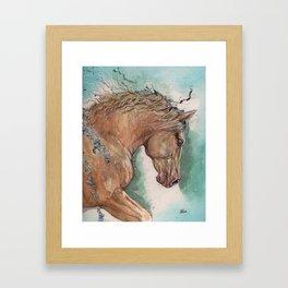 Cremello Horse Framed Art Print