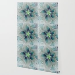 A Floral Fantasy, Abstract Fractal Art Wallpaper