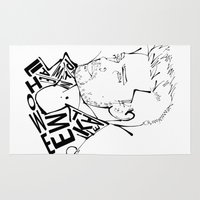 liam payne Area & Throw Rugs featuring Typographic Liam by Ashley R. Guillory
