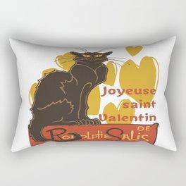 Joyeuse saint Valentin Le Chat Noir Parody Rectangular Pillow