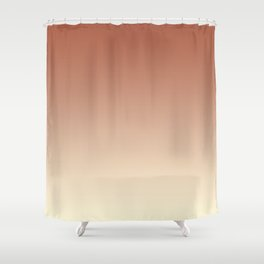Pratt and Lambert Red River 4-21 and Dover White 33-6 Ombre Gradient Blend Shower Curtain