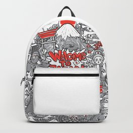 welcome to japan illustration Backpack