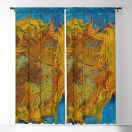 Sunflowers Oil Painting by Vincent van Gogh Blackout Curtain