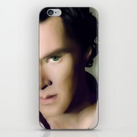 cumberbatch iPhone & iPod Skins featuring Benedict Cumberbatch by GinHans