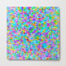 Coloured Triangles : Mini #2 Metal Print