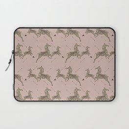 Royal Tenenbaums Zebra Wallpaper - Dusty Pink Laptop Sleeve