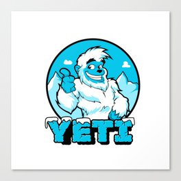 Smiling cartoon yeti Canvas Print