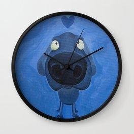 Weimaraner Love - Blue Wall Clock