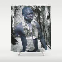 castle Shower Curtains featuring Castle by Mowil
