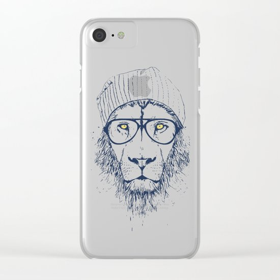 Cool lion Clear iPhone Case