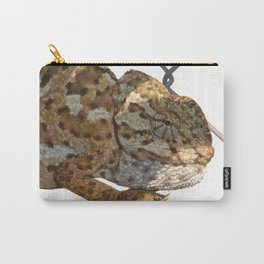 Chameleon Hanging On A Wire Fence Vector Carry-All Pouch