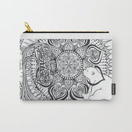 Polar Bear Mandala by Lady Lorelie Carry-All Pouch