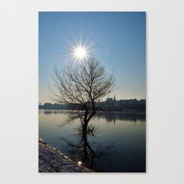 Sun over Vistula Canvas Print