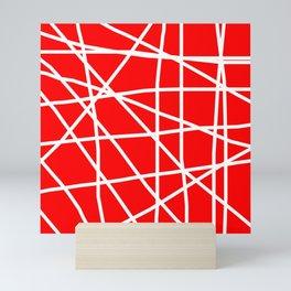 Doodle (White & Red) Mini Art Print