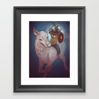 Boy and His Beast Framed Art Print